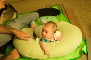 tummy time with Adam and Ella