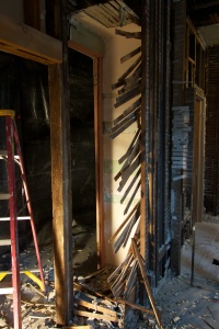 demolition- breakfast nook